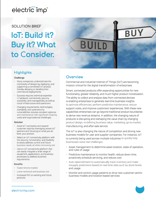 IoT Build vs Buy